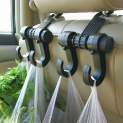 Multifunkční závěsný držák s dvojitým háčkem do automobilu - 1 ks