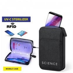 Pouzdro na telefon a na karty s UV sterilizátorem 146674 - černé