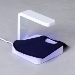 Dezinfekční dobíjecí UV lampa 146671 - s integrovanou bezdrátovou nabíječkou - bílá
