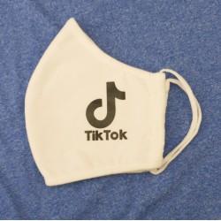 Textilní rouška na více použití - TikTok - bílá - 1 ks