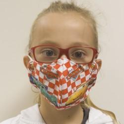Dětská textilní rouška na více použití - Auta - 1 ks