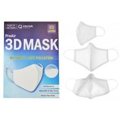 Antibakteriální rouška na více použití Pro Air - s 3D designem - bílá