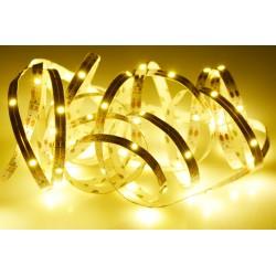 Samolepící LED pásek na baterie - 100 cm - 30 diod - teplá bílá