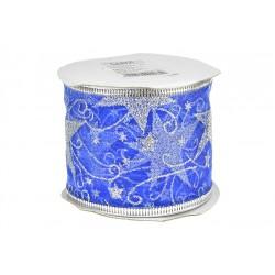 Dárková stuha - 6 x 270 cm - modrá
