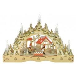 Vánoční svícen - dva kluci - barevný