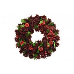 Vánoční věnec - 33 cm - červený