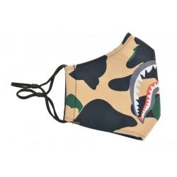 Textilní rouška - maskáčová se žraločí tlamou