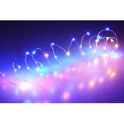 Barevná LED světýlka na baterie - 105 cm - 20 diod - s časovačem
