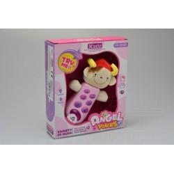 Dětský telefonek - se zvuky a blikáním - růžový - Gazelo