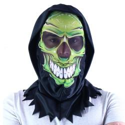 Maska s motivem lebky - textilní - Rappa