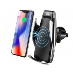 Bezdotykový 2 v 1 držák na telefon se senzorem a bezdrátovým nabíjením