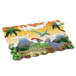 Puzzle dinosauři - 208 ks - 90 x 64 cm - Rappa
