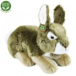 Plyšový ležící králík - šedý - 25 cm - Rappa