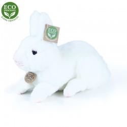 Plyšový ležící králík - bílý - 23 cm - Rappa