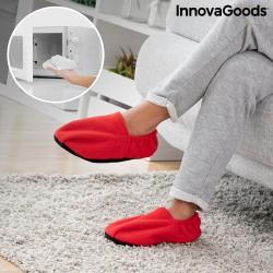 Pantofle ohřívatelné v mikrovlnné troubě - červené - InnovaGoods