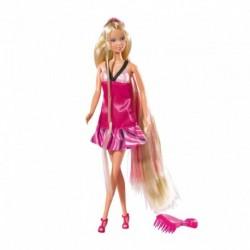 Panenka Steffi s krásnými dlouhými vlasy a kartáčem - Simba