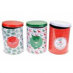 Plechovky na vánoční cukroví - 3 ks