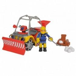 Zimní požárnická čtyřkolka Mercury - s figurkou - Požárník Sam - Simba