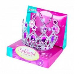 Princeznovská korunka s naušnicemi - růžová - Rappa