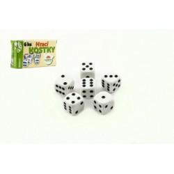 Hrací kostky - 6 ks - v krabičce - Rappa