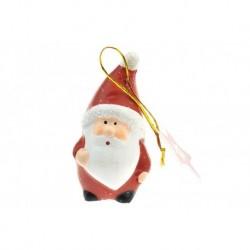 Figurka na stromeček z pálené hlíny - Santa - 8 cm