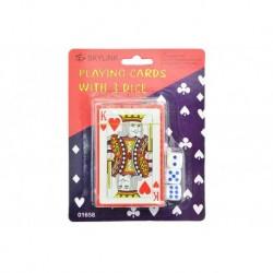 Hrací karty s kostkami