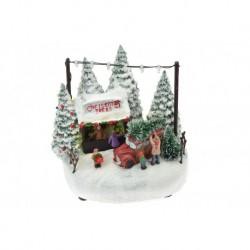 Vánoční dekorace - prodej stromečků - svítící - 17 cm