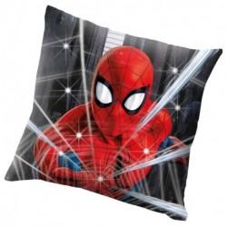 Svítící LED polštářek - Spiderman - 40 x 40 cm - polyester - Euroswan