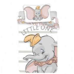 Bavlněné povlečení Dumbo Grey Stripe - 140 x 200 - Jerry Fabrics