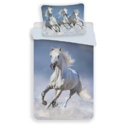 Bavlněné povlečení - Horses White - 140 x 200 - Jerry Fabrics