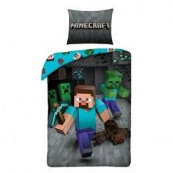 Bavlněné povlečení - Minecraft Steve - 140 x 200 - Halantex