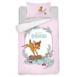 Bavlněné povlečení do postýlky - Little Bambi Pink - 100 x 135 - Detexpol
