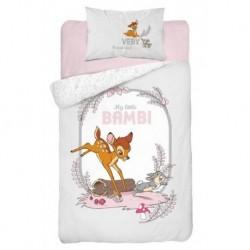 Bavlněné povlečení do postýlky - Little Bambi Grey - 100 x 135 - Detexpol