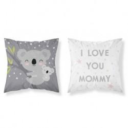 Bavlněný povlak na polštářek - Koala Love Grey - 40 x 40 - Detexpol
