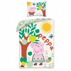 Bavlněné povlečení ve vaku - Peppa Pig - jabloň - 140 x 200 - Halantex