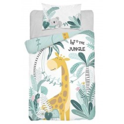 Bambusovo-bavlněné povlečení do postýlky - Žirafa Jungle - 100 x 135 - Detexpol