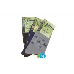 Dámské klasické bambusové ponožky ZW1958 - 3 páry - Ellasun