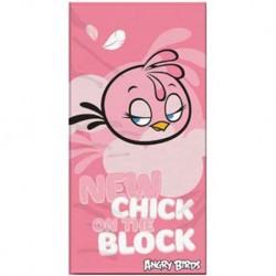 Osuška - Angry Birds - Stella - růžová - 140 x 70 cm - Halantex