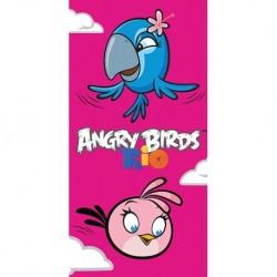 Osuška - Angry Birds - Rio, Stella a Perla - 140 x 70 cm - Carbotex