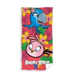 Osuška - Angry Birds - Rio - růžová - 140 x 70 cm - Carbotex