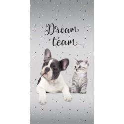 Osuška - Pes a kočka - Dream Team - 140 x 70 cm - Detexpol