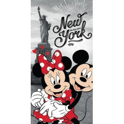 Osuška - Mickey a Minnie v New Yorku - 140 x 70 cm - Jerry Fabrics