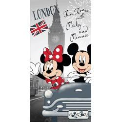 Osuška - Mickey a Minnie v Londýně - 140 x 70 cm - Jerry Fabrics