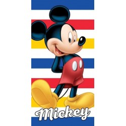 Osuška - Mickey Mouse - pruhovaná - 140 x 70 cm - Detexpol