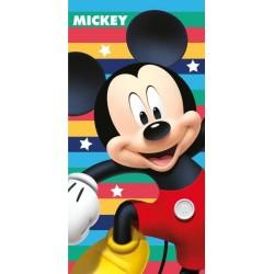 Osuška - Mickey Mouse - barevné proužky - 140 x 70 cm - Jerry Fabrics