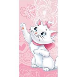 Osuška - Kočička Marie - růžová - 140 x 70 cm - Jerry Fabrics