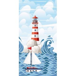 Osuška - Moře a maják - 140 x 70 cm - Faro