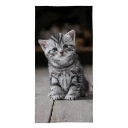 Osuška - Šedé kotě - 140 x 70 cm - Detexpol