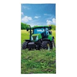Osuška - Zelený traktor - 140 x 70 cm - Detexpol
