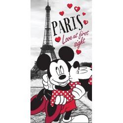 Osuška - Mickey a Minnie v Paříži - 140 x 70 cm - Jerry Fabrics